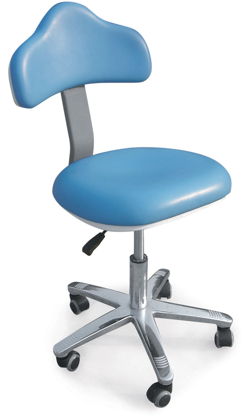 China Big Backrest Dentist Stool With Adjust Seat Tilt For