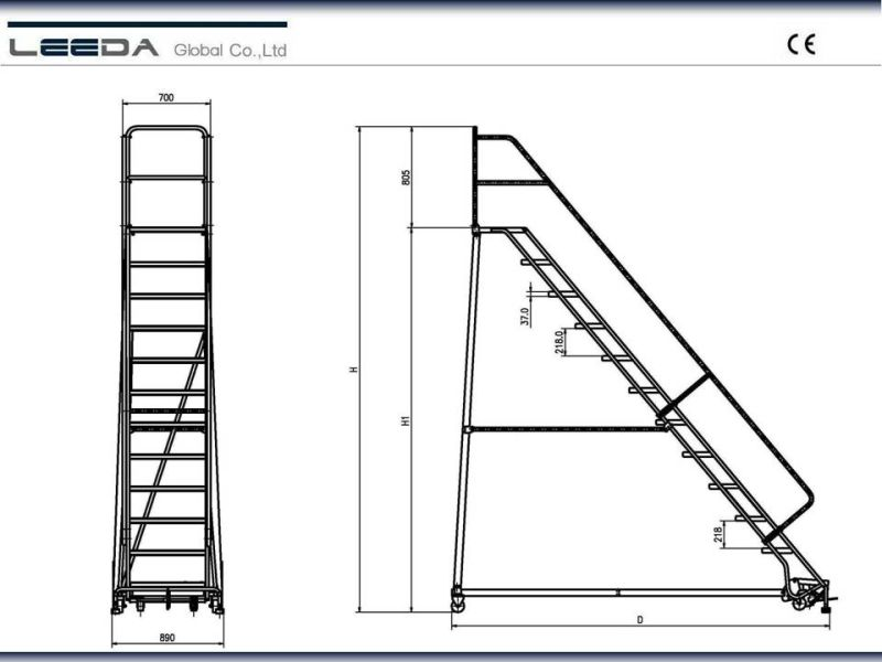 China Industrial Steel Rolling Ladders Rl Series China