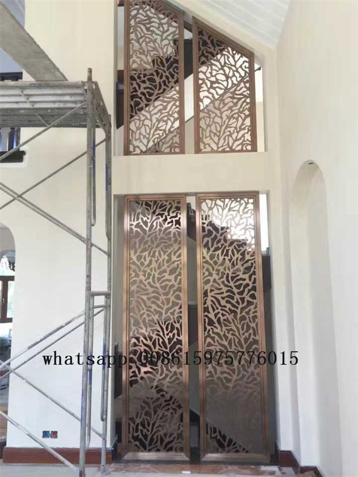 decorative stainless steel wall panel wall partition screen with color and design