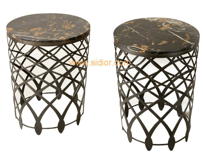 (CL-5506) Luxury Hotel Restaurant Villa Lobby Furniture Marble Side Table