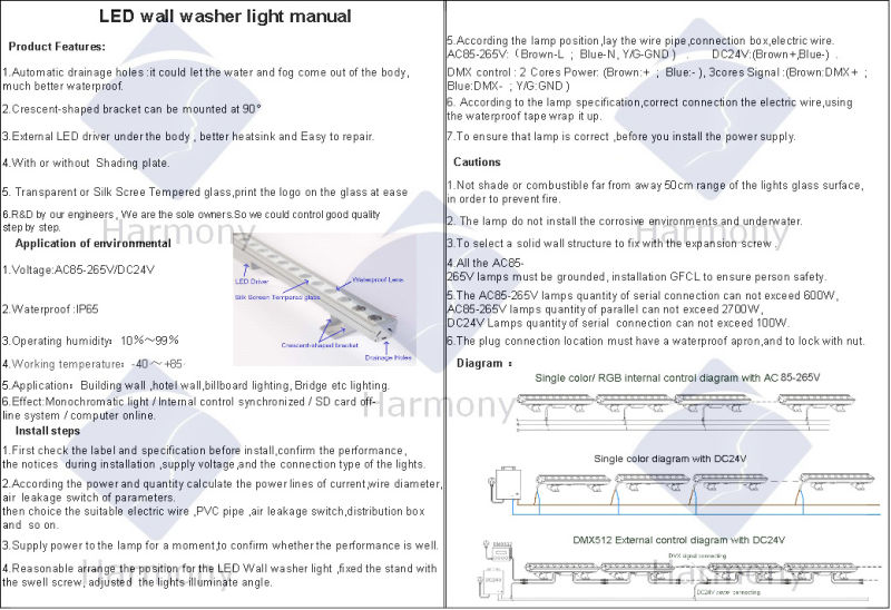 Outdoor IP65 18W Light High Power LED Wall Washer