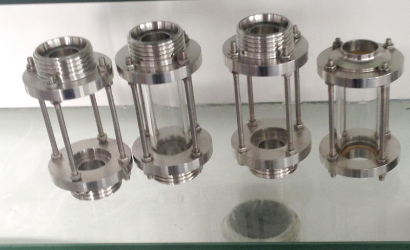 China sanitary stainless steel threaded sight glass