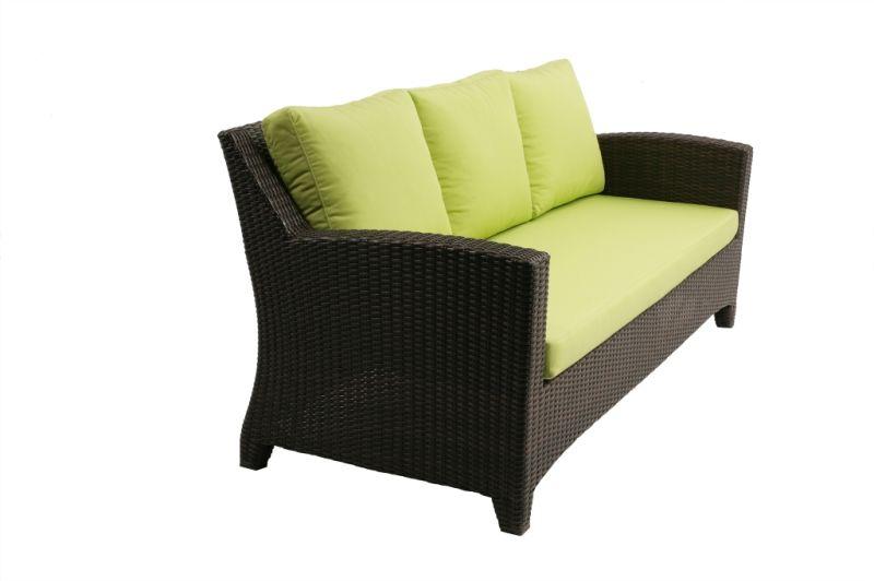 4pcs gebruiken van de tuin van het meubilair van de rotan van de bank van barcelona het - Rotanbank plaatsen ...