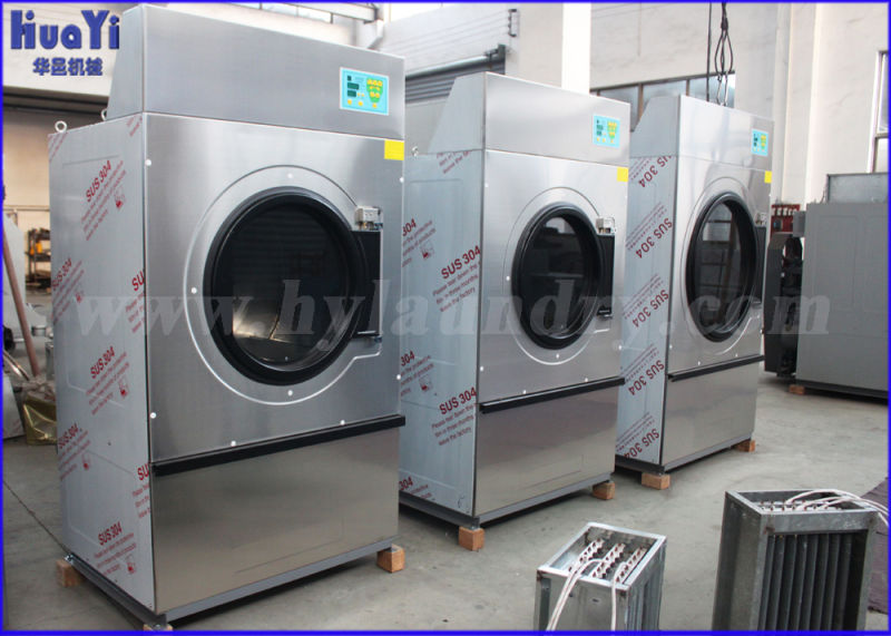 china 100kg electrical and steam heated tumble dryer