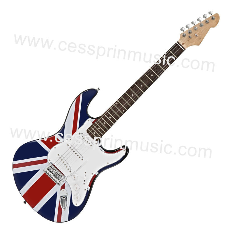 Wholesales /Stickers Electric Guitar/ Lp Guitar /Guitar Supplier/ Manufacturer/Cessprin Music (ST604) / The National Flag Guitar