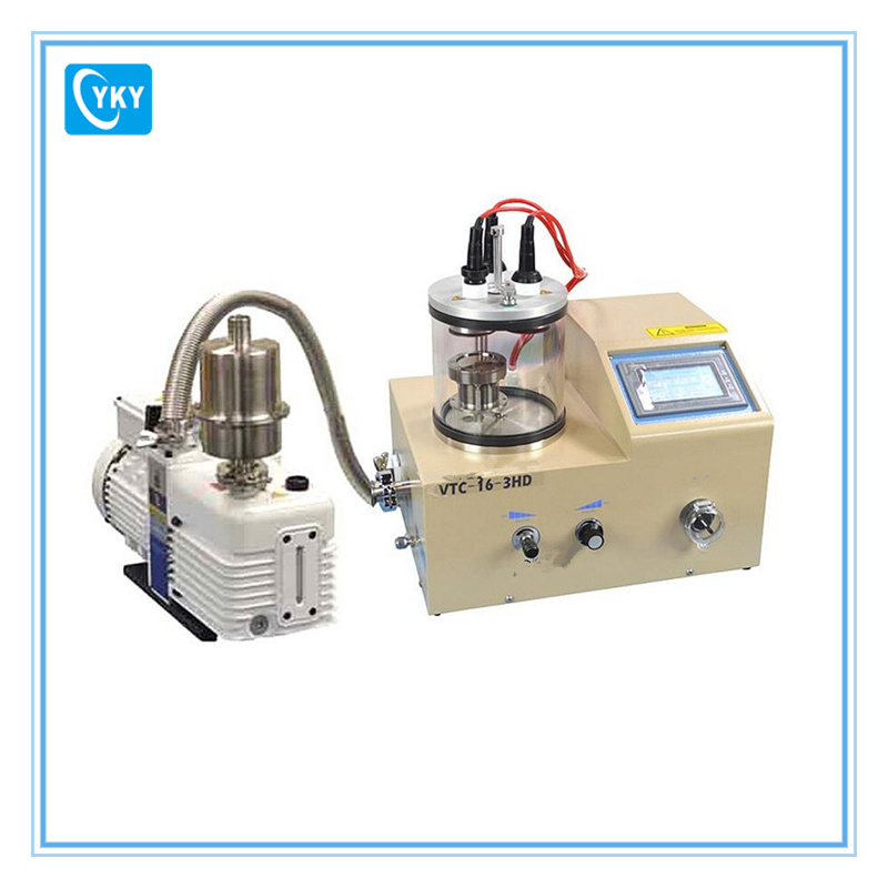 Touch Screen Compact Three Rotary Target Plasma Sputtering Evaporator Coater