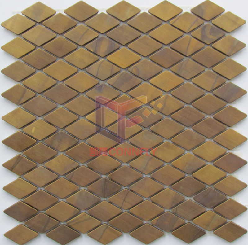 China Lantern Shape Copper Made Metal Mosaic Tiles For Art