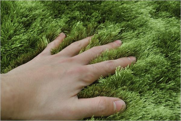 Bright Green Grass Rug/Tufted Carpet/Mat (200X140cm) , Oeko   Tex
