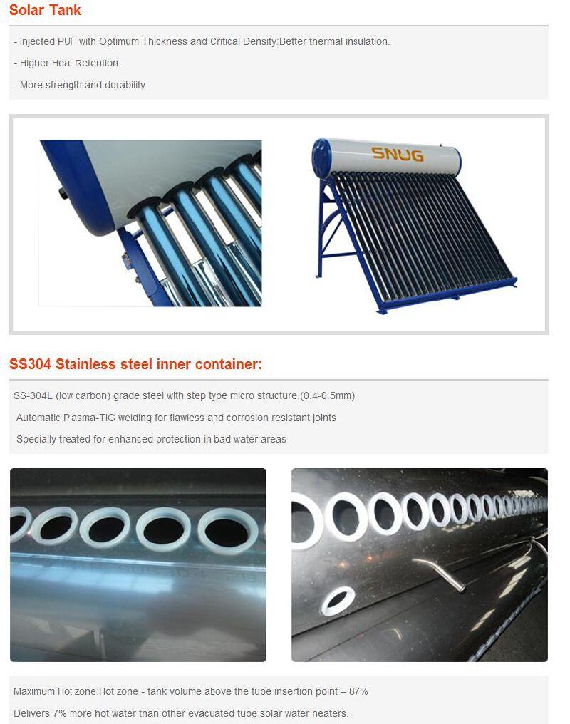 Baixa Pressão aquecedor solar de água (tubo etc / aço inoxidável)