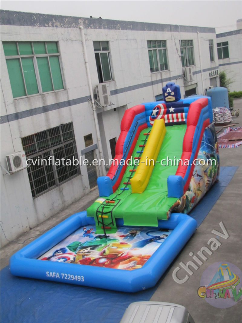China New Inflatable Water Slide With Swimming Pool For Sale China Water Slide Inflatable
