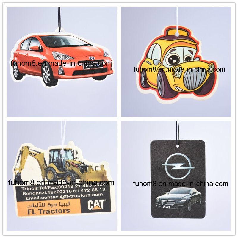 China custom best hanging paper car air freshener with long lasting fragrance china car air