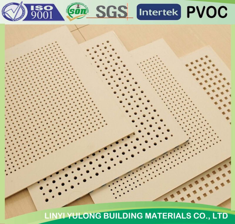 Sound Absorbing Gypsum Board : China acoustic sound absorb perforated pvc gypsum ceiling