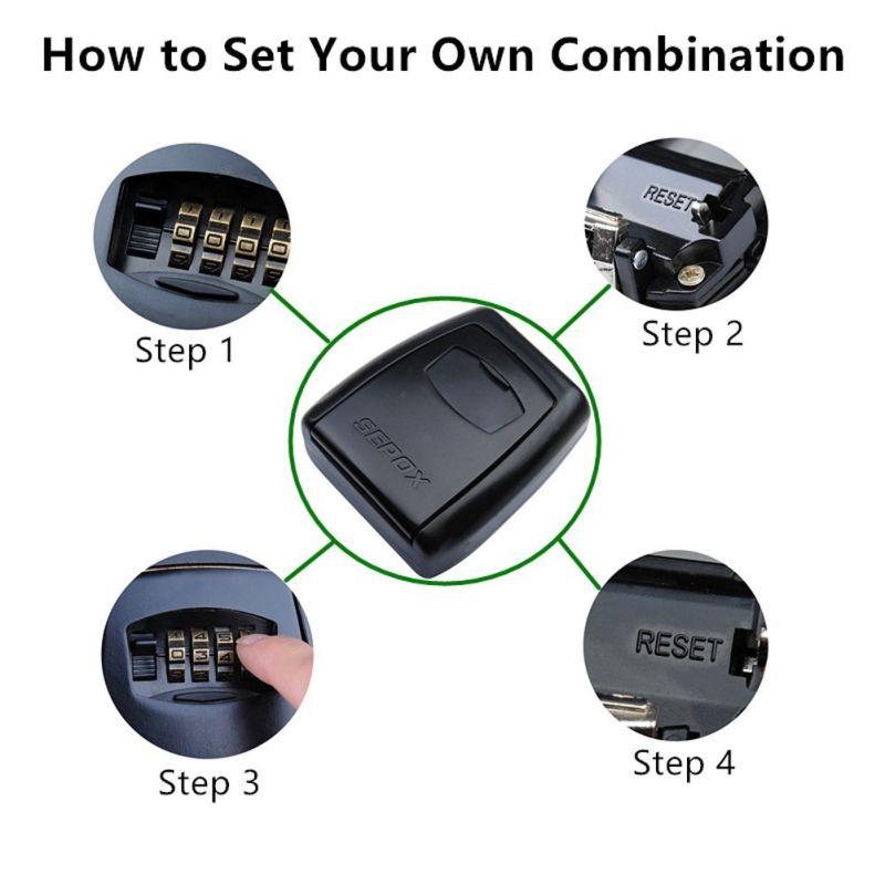 Colorful Zinc Alloy Material 4 Digits Combination Key Box (C200-004)