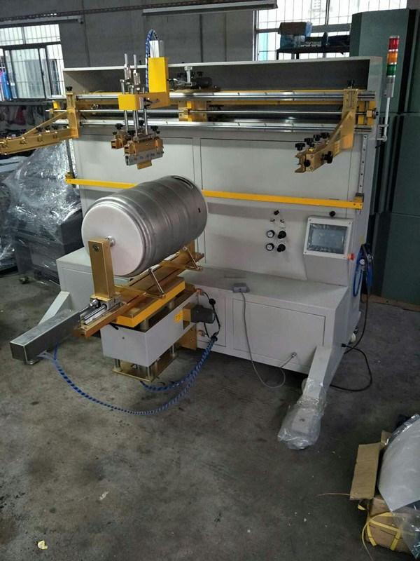 TM-1500e Pail Cylinder Screen Printing Machine for Keg Bucket Barrel