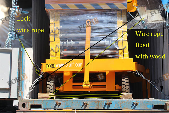 10m 500kg Foru Mechanical Hydraulic Scissor Lift Table Price