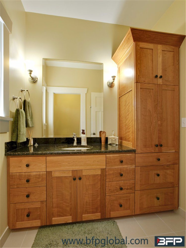America Style With Quartz Countertop Commercial Bathroom Vanity Units