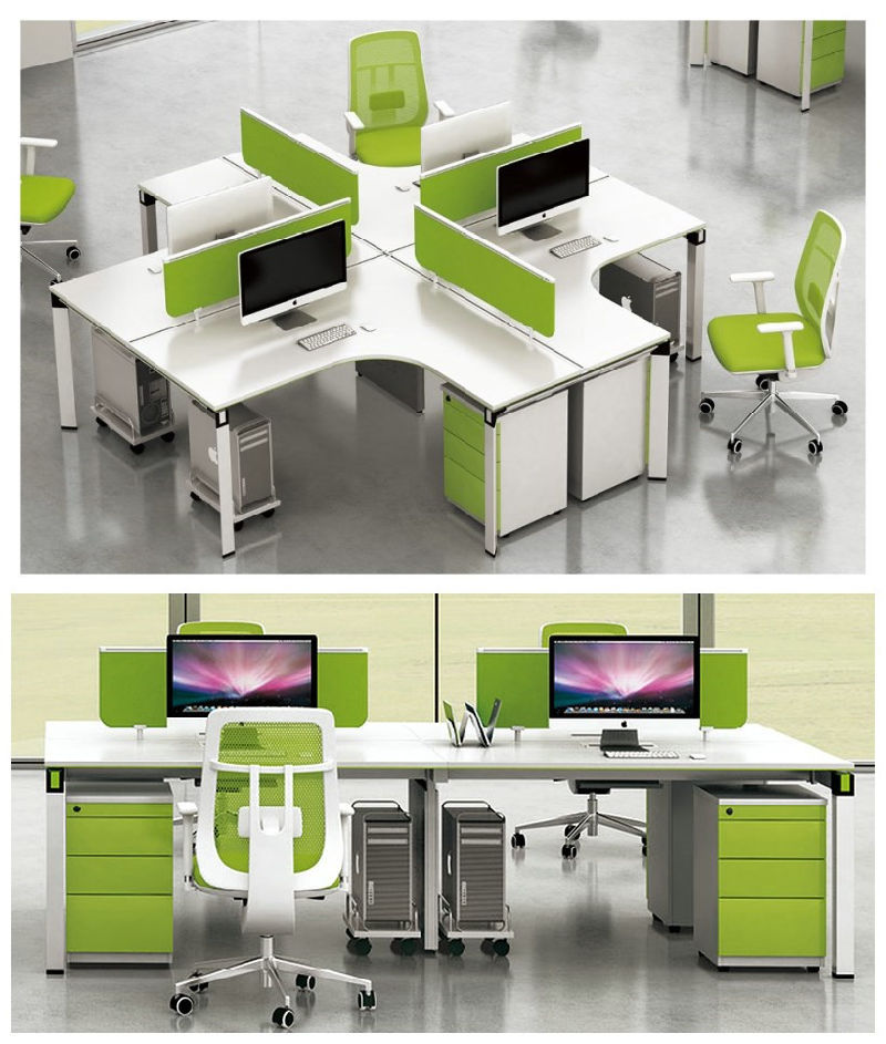 2016 New Design Modern 6 Person Seats Fsc Forest Certified Approved by SGS Office Workstation for Green Office Work Station System Combination Partition (H50)