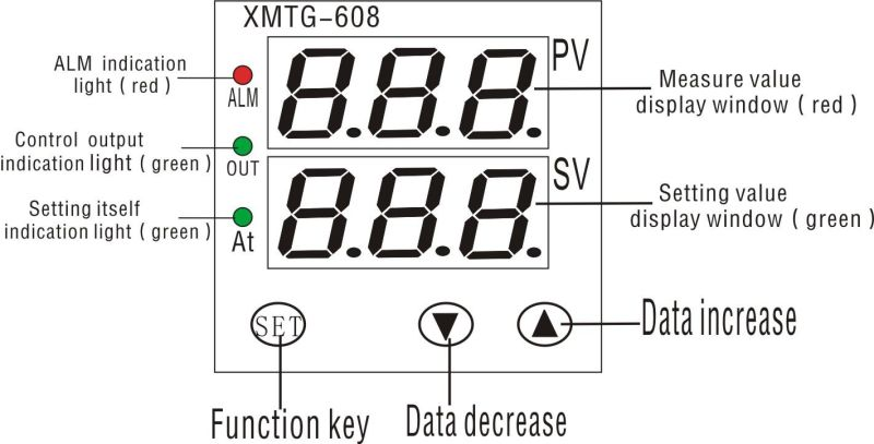 Xmtg-608 Intelligence Dual Row 3-LED Display Temperature Controller