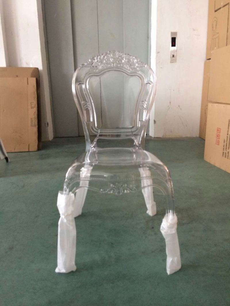 China Crystal Clear Royal Chair Event Princess Chair