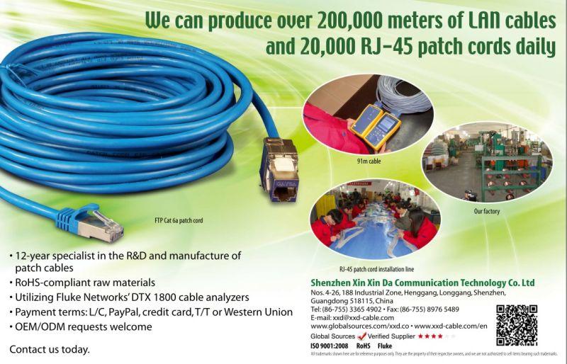 Кабель 50cm заплаты гигабита Cat6A локальных сетей Cable10 Lan сети RJ45 1m