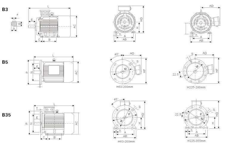 moteur  u00e9lectrique  u00e0 trois phases en aluminium  u2013moteur