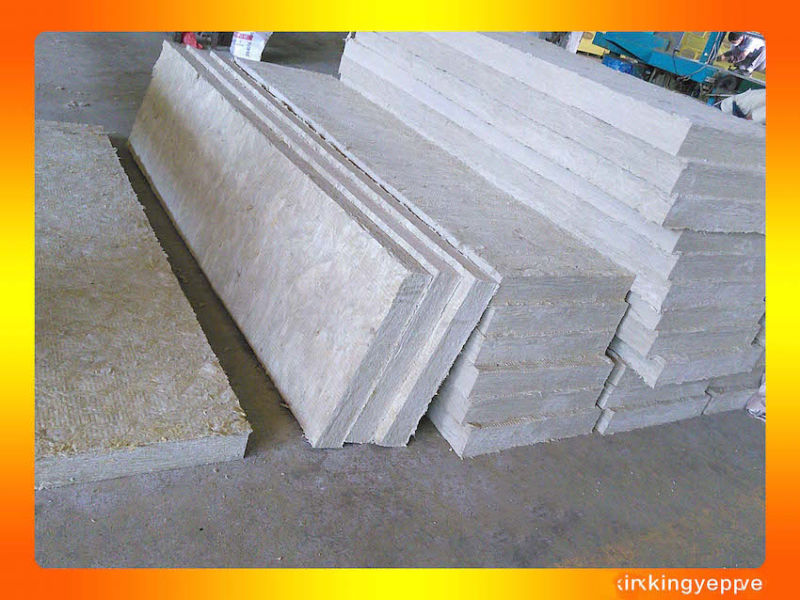 Fireproof insulation rock wool rockwool wall panel for Fireproof rockwool