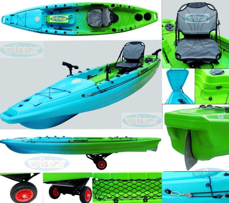 China wholesale canoe plastic fishing kayak with pedals for Fishing kayak with foot pedals