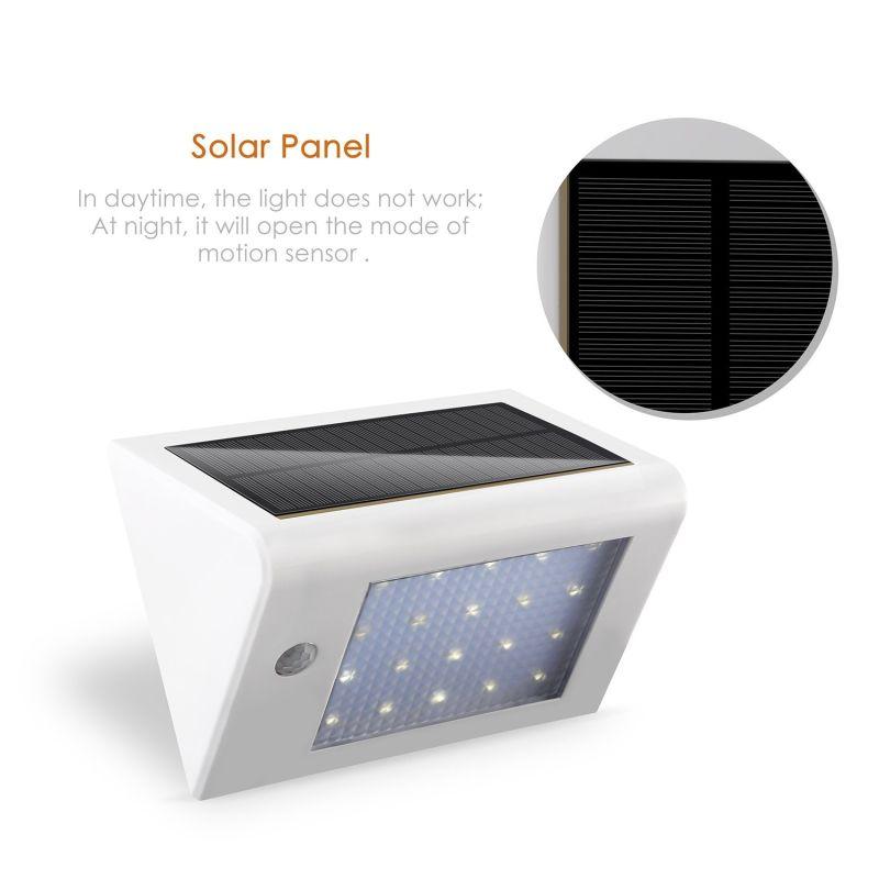 20 LED PIR Motion Sensor Outdoor Dim Light Waterproof LED Solar Garden Light Wall Mounted Lamp