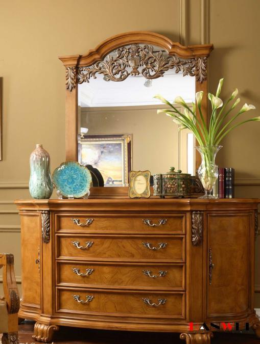 Wooden Furniture Solid Wood Dressing Table with Mirror. China Wooden Furniture Solid Wood Dressing Table with Mirror