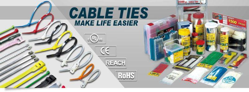 Self-Locking Nylon White Cable Ties