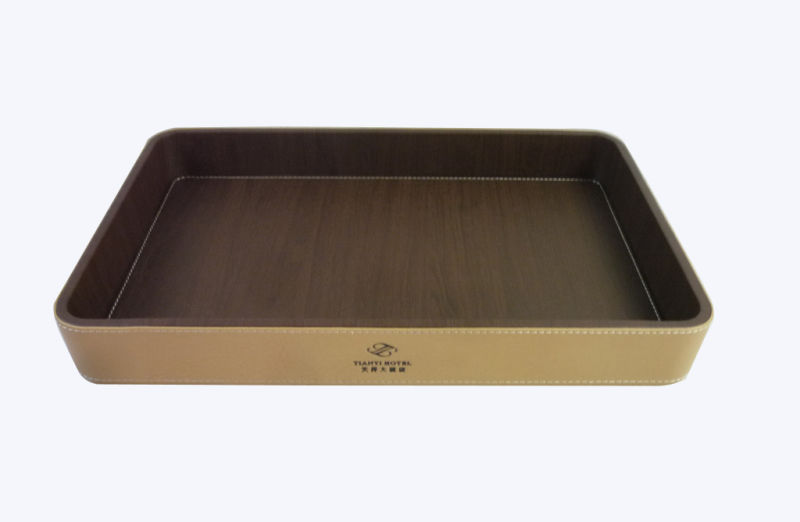 china faux leather tray, guestroom service tray, amenity tray, Home design