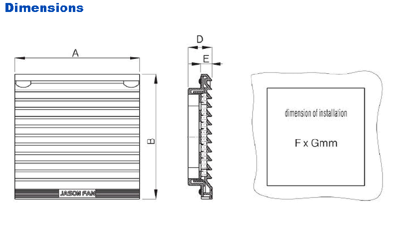 204mm High Cost Performance Ventilation Filter (JK6623)