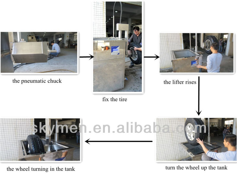 tire cleaning machine