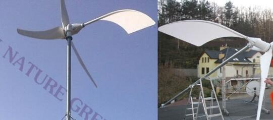 2kw Wind Turbine & 3kw Solar Panels as Renewable Energy