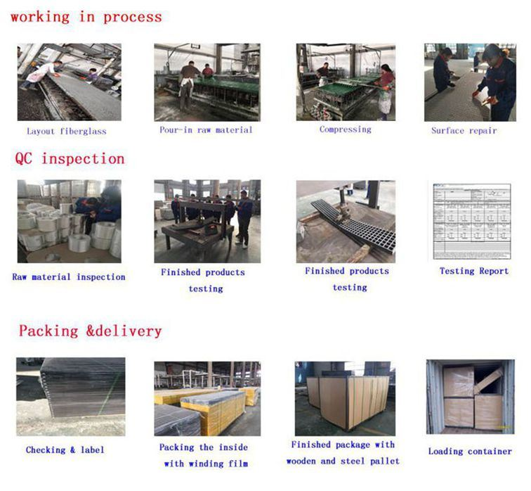 FRP/GRP Grating, Double Deck Grating, Sanded Anti-Slip Surface