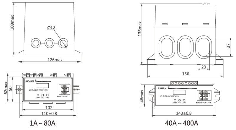 China 400a motor protector three phase overload protection for 3 phase motor protection