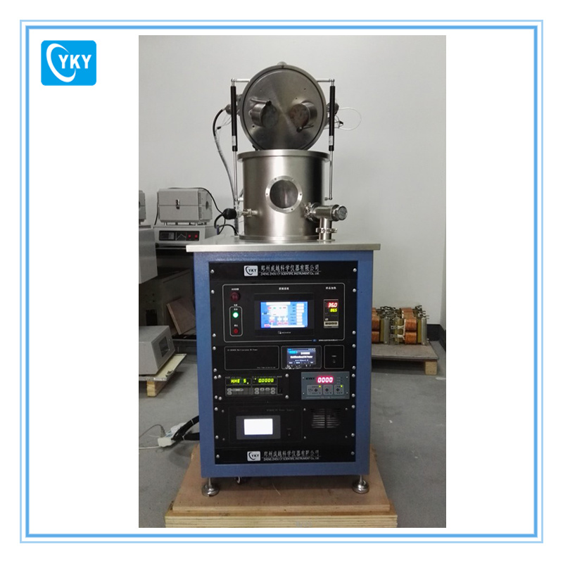 DC/RF Dual-Head High Vacuum Magnetron Plasma Sputtering System with Thickness Monitor