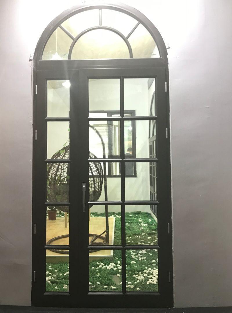 Circular Window Door : China circular arc glass panel door