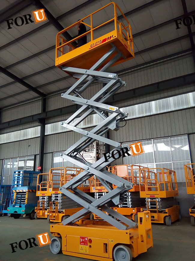 6m 230kg Electric Hydraulic Aerial Scissor Lift Platform Work Table