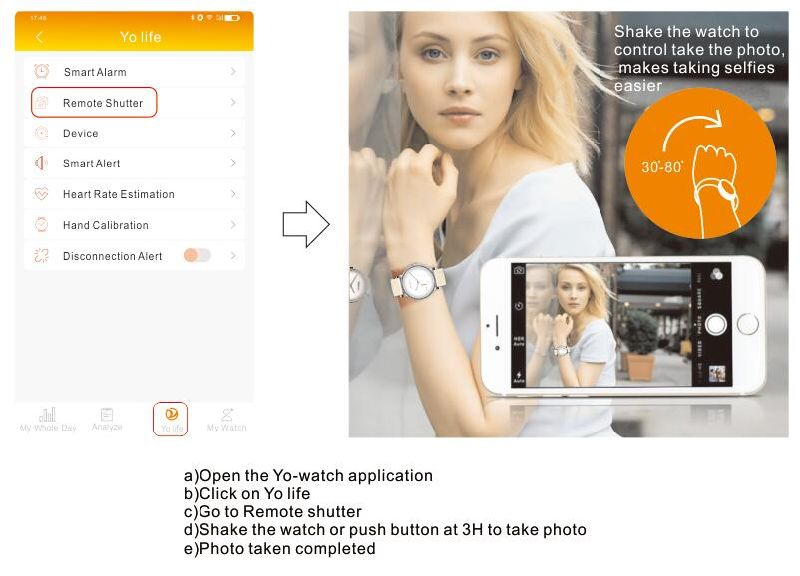 Bluetooth Camera Lovely Couple Lovers Sport Phone Android GPS Smart Watch