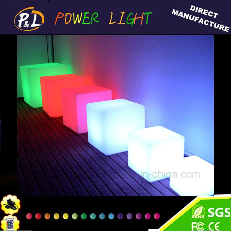 China Rgb 16 Colors Changing Illuminated Plastic Led Cube
