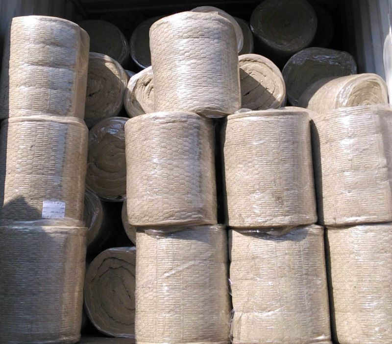 China wire mesh mineral heat insulation rock wool blanket for Stone mineral wool