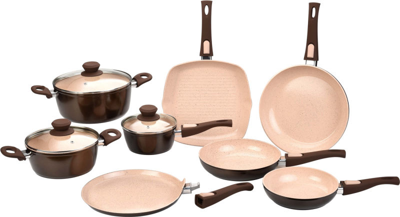 China Ceramic Coated Forged Aluminum Pots And Pans