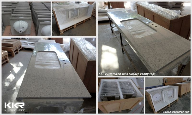 Decorative material kkr wholesale solid surface from china - Custom solid surface bathroom vanity tops ...