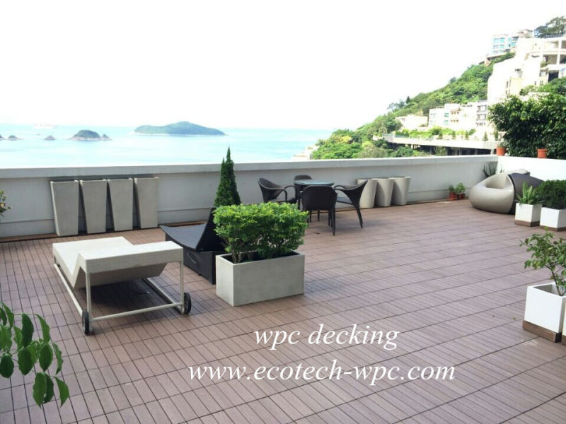 China Composite WPC Deck Texture Wood Tile Outdoor - China