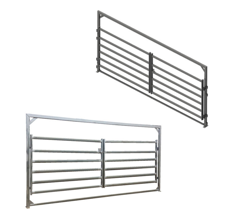 China As Nzs Steel Cattle Panel Double Entry Gate China Panel Steel Panel