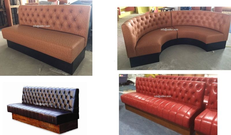 (SD-4004) Modern Wooden Hotel Restaurant Furniture Leather Booth Sofa