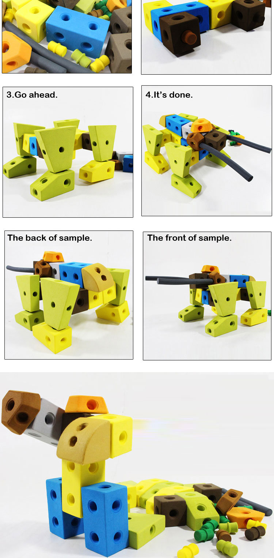Education Toy Eco-Friendly EVA Foam Soft Toy Block 49PCS (10250562)