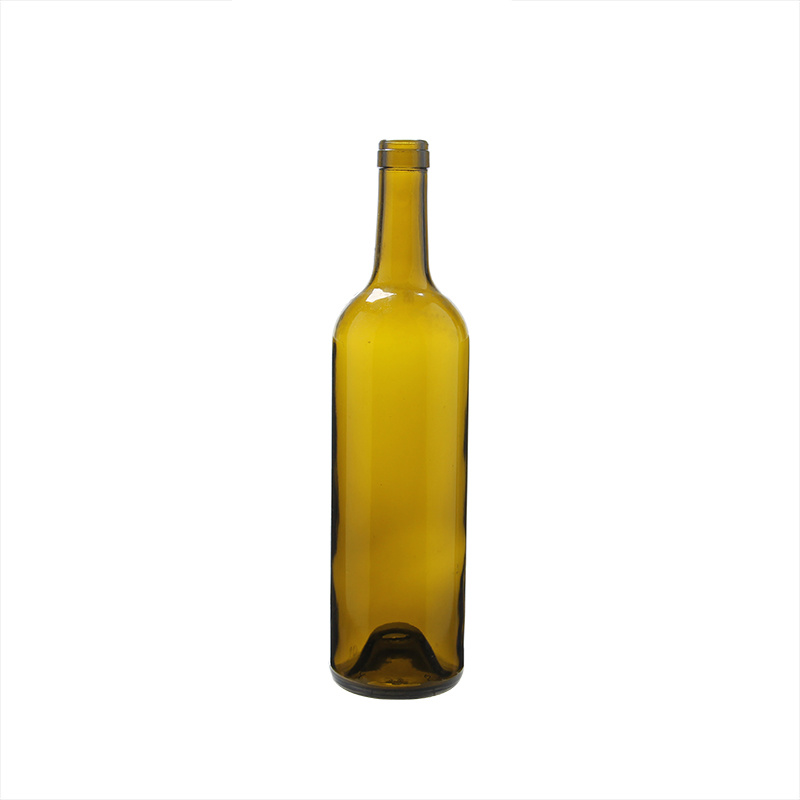 Wholesale Cheap Price 750ml Red Glass Wine Bottle Olive Green Glass Bottle pictures & photos