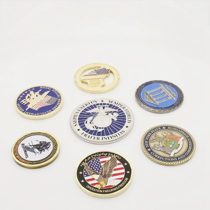 Customized Style Shiny Nickel Finish Metal Craft Commemorative Coin pictures & photos